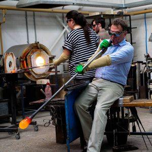 2nd Visit to Adam Aaronson Glass Studio - February 2019